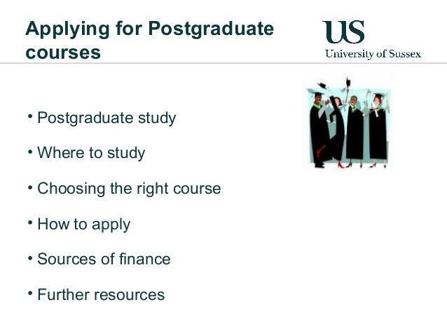 Applying for Postgraduate Study