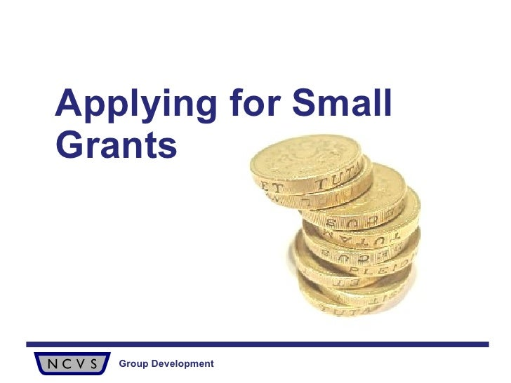 Applying For Small Grants