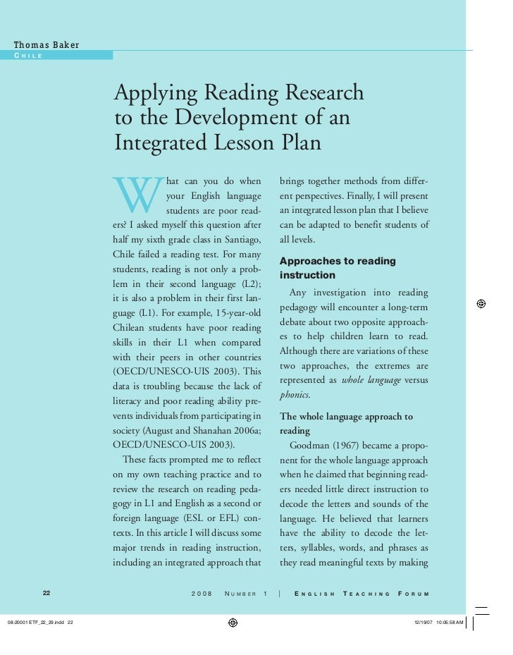 Applying reading research