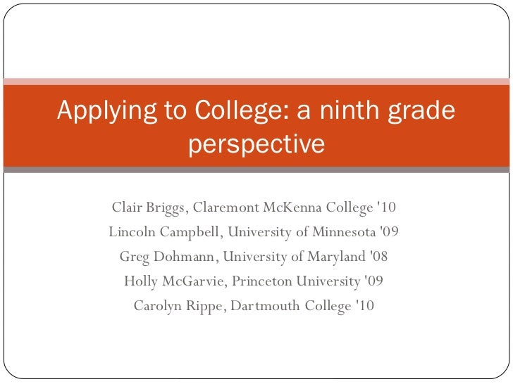 Applying To College PPT Activity