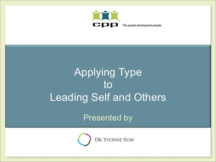 Applying Type To Lead Self & Others