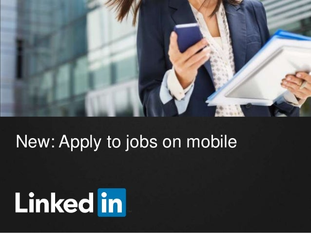 Apply to Jobs on LinkedIn Mobile