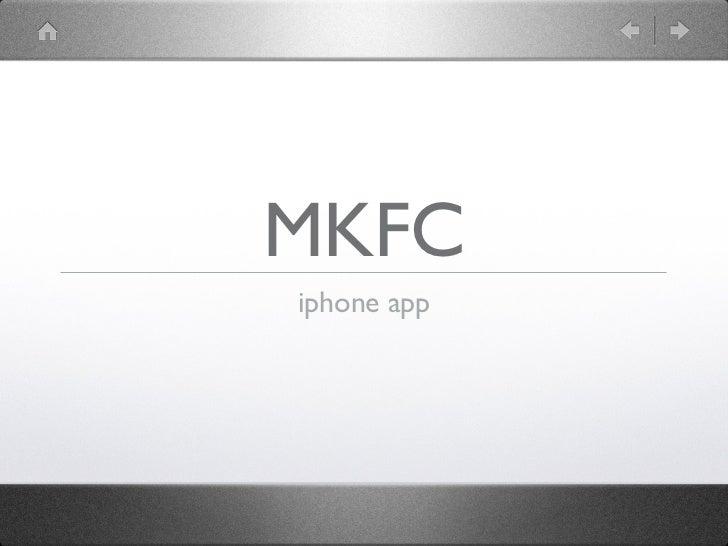 MKFC iPhone app keynote
