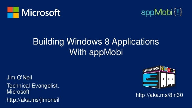 Building Windows 8 Applications with appMobi