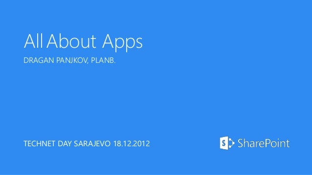 (Almost) All About Apps for SharePoint 2013