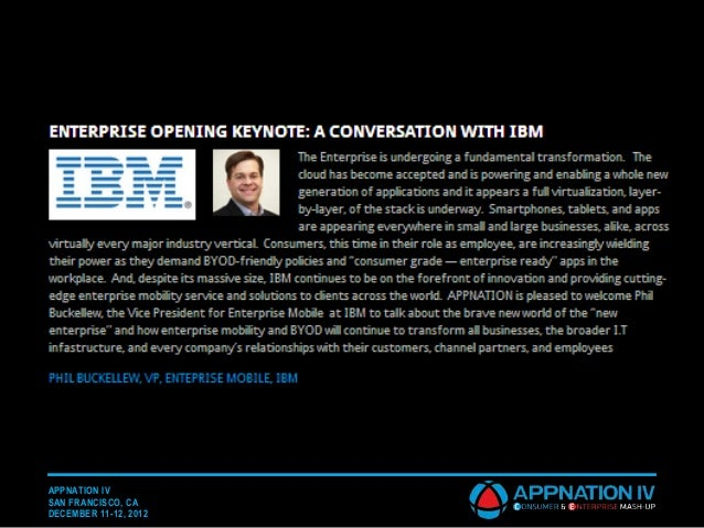 AN IV SF IBM Keynote - Phil Buckellew