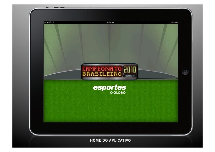 Aplicativo iPad O Globo Brasileirão