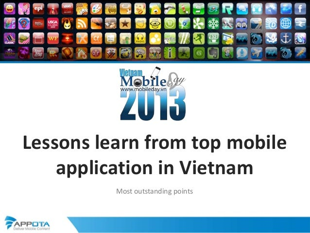 Lessons learn from top mobileapplication in VietnamMost outstanding points