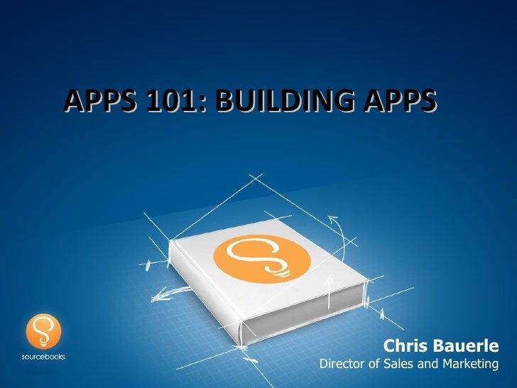 Sourcebooks Apps 101 - BEA 2012