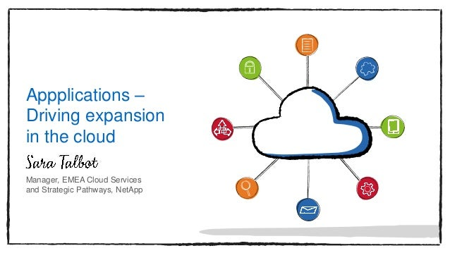 Appplications – Driving expansion in the cloud Manager, EMEA Cloud Services and Strategic Pathways, NetApp
