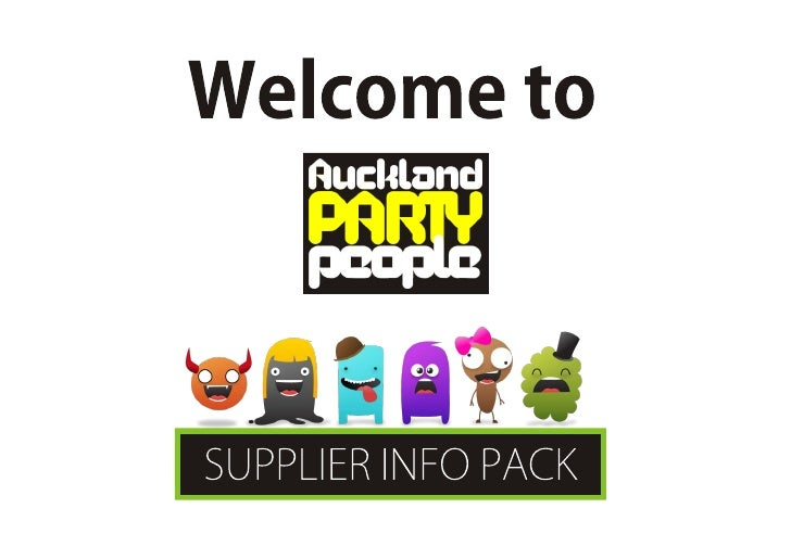 Auckland Party People Supplier Info