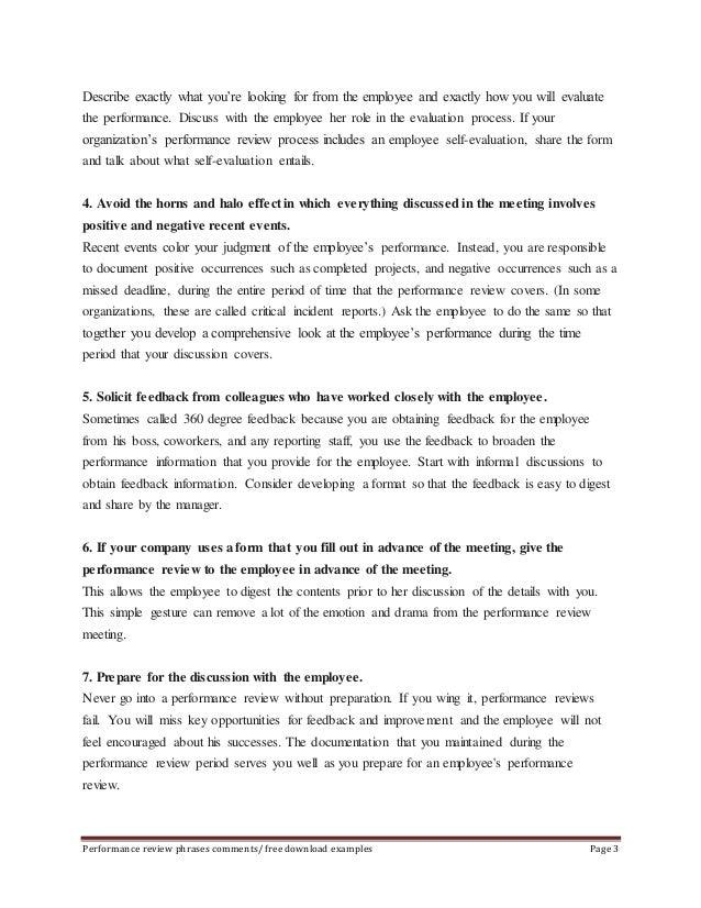 Employee Self Assessment Examples employee self assessment samples ...
