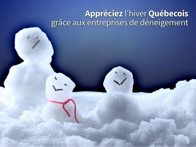 Appréciez l'hiver québécois grâce aux entreprises de déneigement