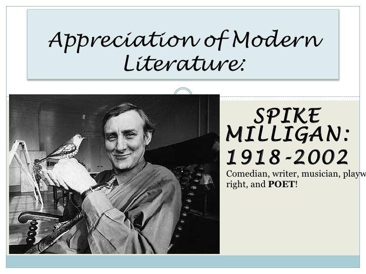 Appreciation Of Modern Literature   Spike Milligan