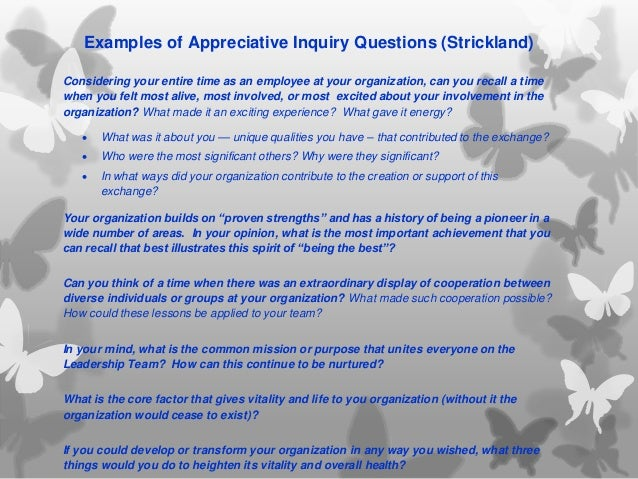 How to Do Appreciative Inquiry Team Building recommendations