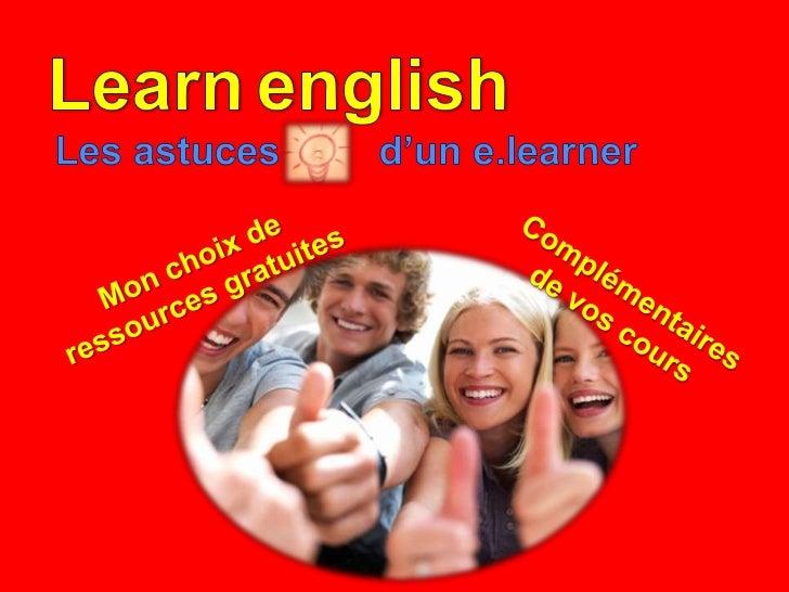 Utiliser les technologiesla collaboration et le partage pour apprendre l'anglais.