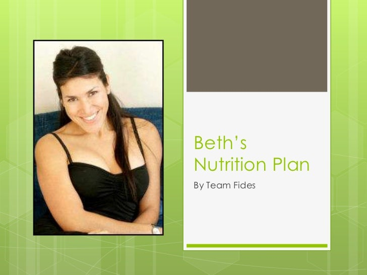 Beth's Nutrition Plan<br />By Team Fides<br />