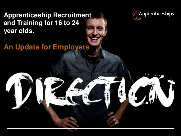 Apprenticeship Recruitmentand Training for 16 to 24year olds.An Update for Employers