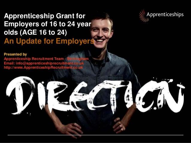 Apprenticeship recruitment team  Updated information for employers