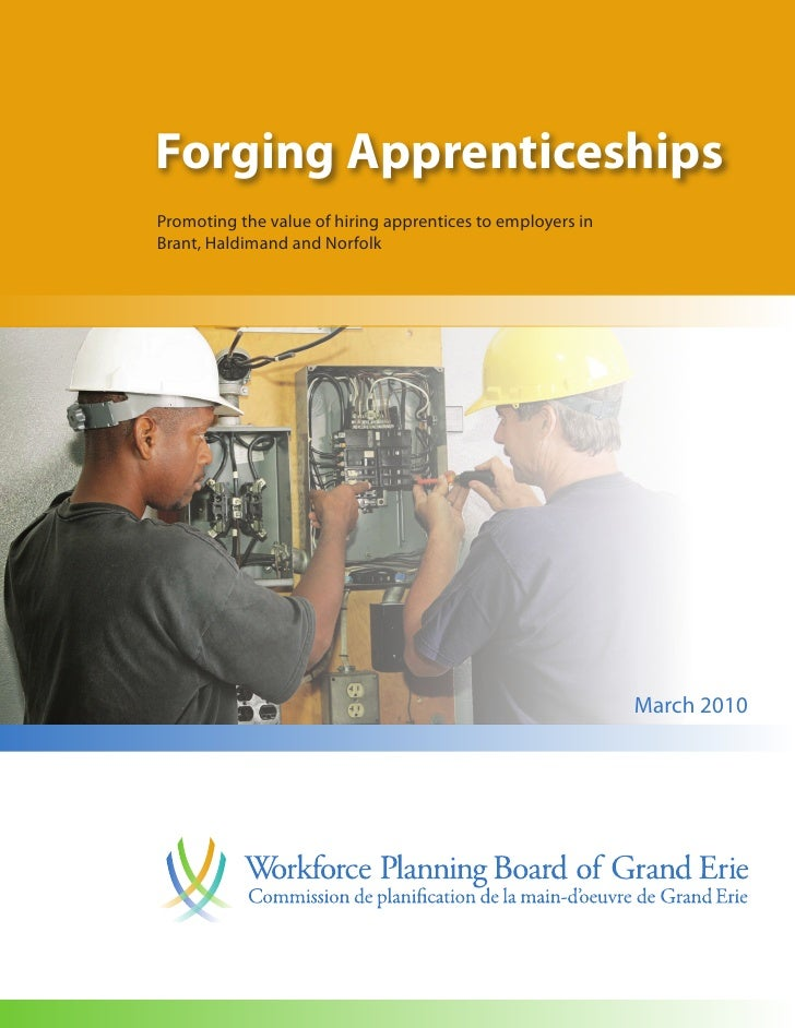 Forging Apprenticeships Promoting the value of hiring apprentices to employers in Brant, Haldimand and Norfolk            ...