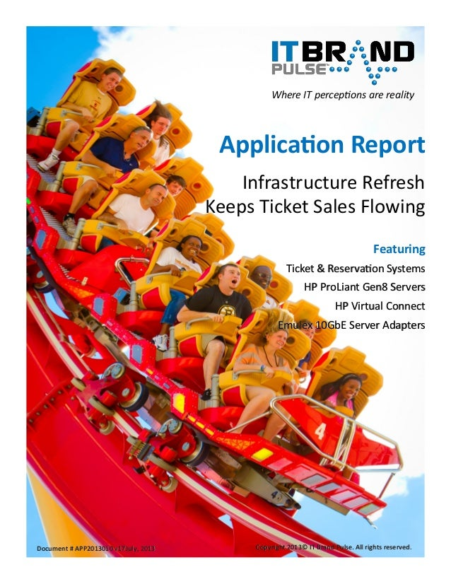 Application Report: Infrastructure Refresh Keeps Ticket Sales flowing