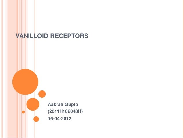 VANILLOID RECEPTORS        Aakrati Gupta        (2011H108048H)        16-04-2012