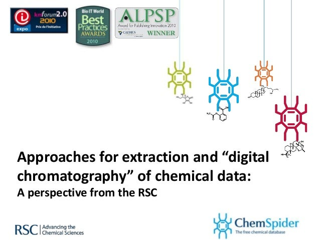 Approaches for extraction and digital chromatography of chemical data