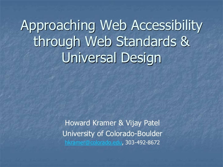 Approaching web accessibility through web stands & ud