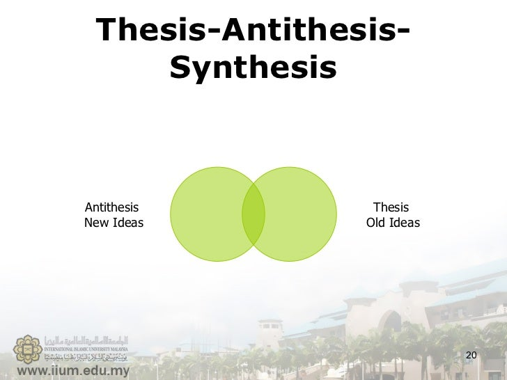rhetoric thesis antithesis Antithesis: antithesis, (from greek: this article deals with rhetoric in both its traditional and its modern forms for information on read more literature.