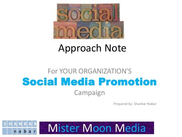 social media promotion- Mister Moon Media (A Shankar Nabar Company)