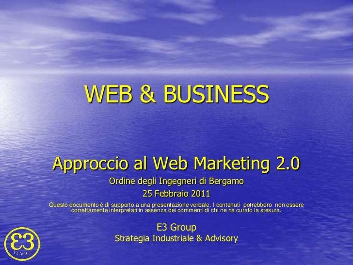 Approccio al web marketing convegno web & business