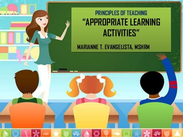 """APPROPRIATE LEARNING ACTIVITIES """"INTRODUCTORY AND DEVELOPMENTAL ACTIVITIES"""""""