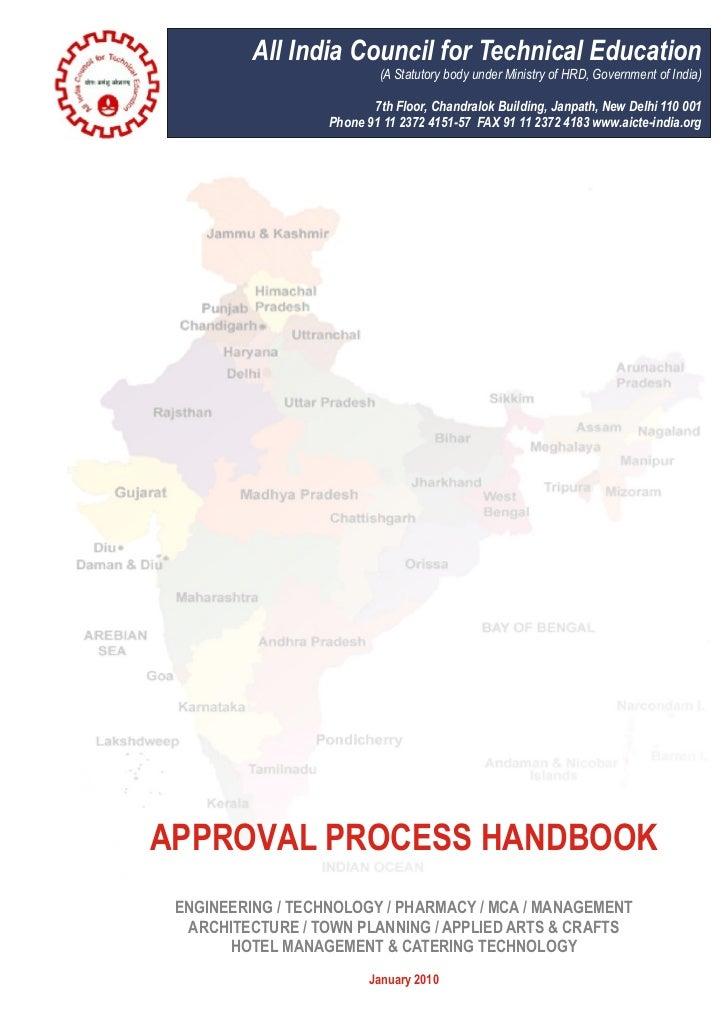 Approval processhandbook9jan2010