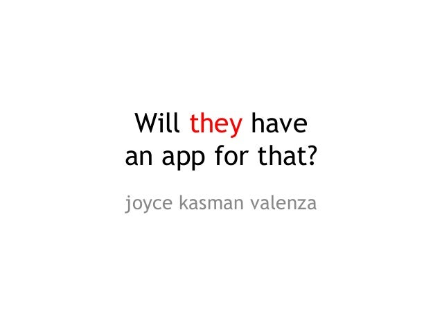 Will they have an app for that?