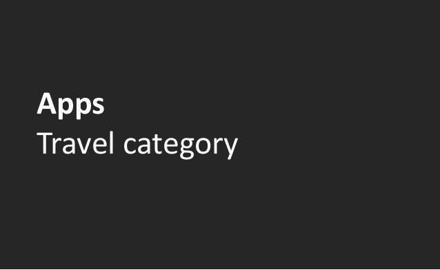 AppsTravel category