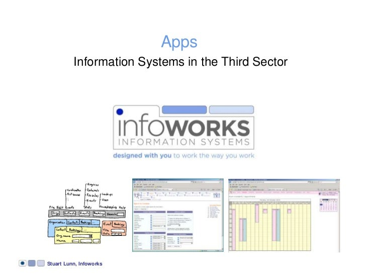 Stuart Lunn, Infoworks<br />Apps<br />Information Systems in the Third Sector<br />