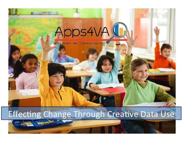 Apps4VA: Effecting Change Through Creative Data Use