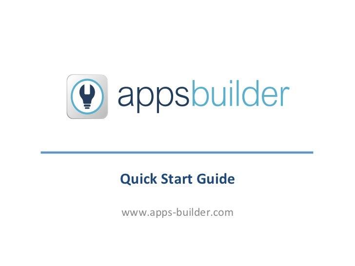 Apps Builder Tutorial
