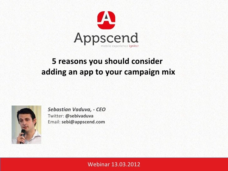 IDMD Online: 5 reasons you should consider  adding an app to your campaign mix - Sebastian Vaduva