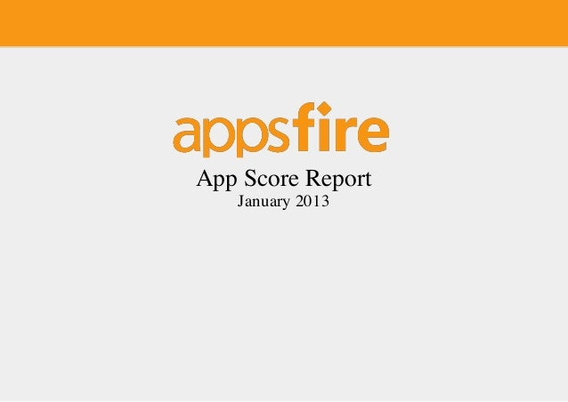 App Score Report   January 2013