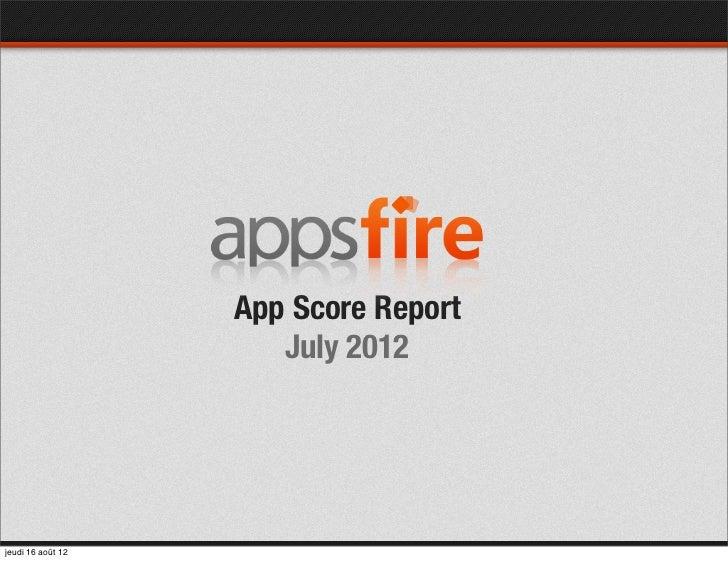 App Score Report - July 2012