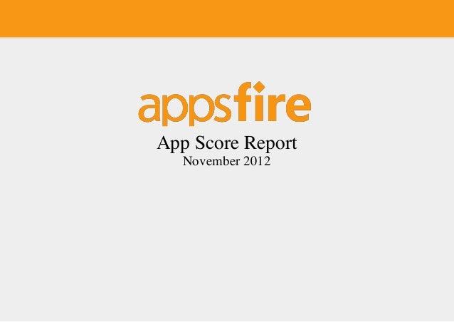 App Score Report -  November 2012