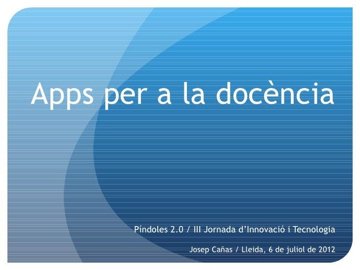 Apps per a la docencia