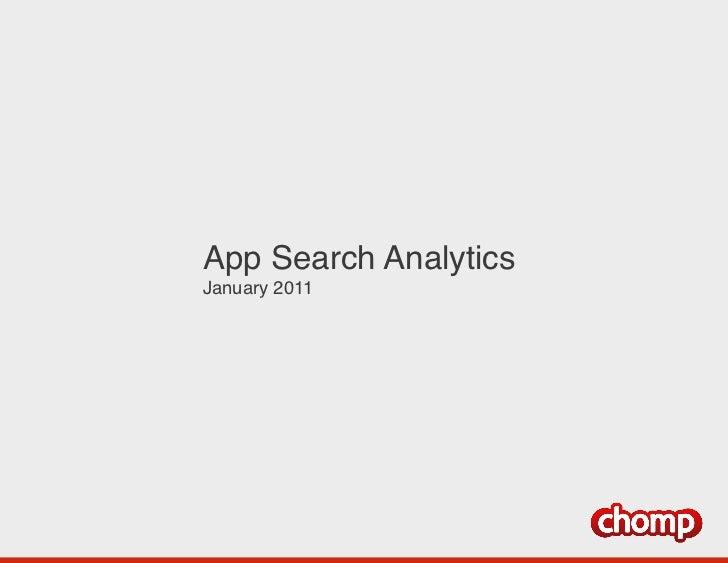 App Search Analytics !January 2011!