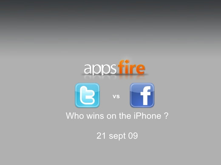 Appsfire: Facebook vs Twitter, who wins on the iPhone