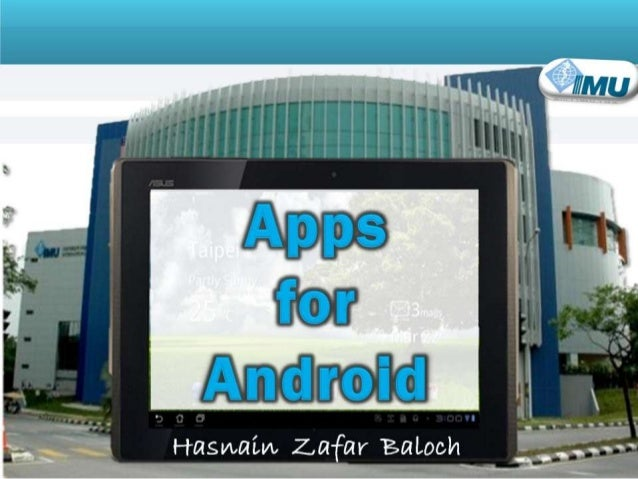 Android Apps. for Teaching and Learning