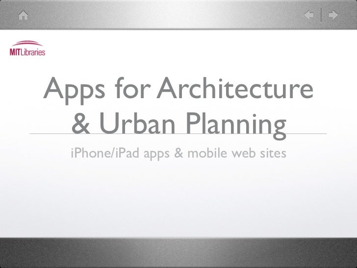 Apps for Architecture & Urban Planning