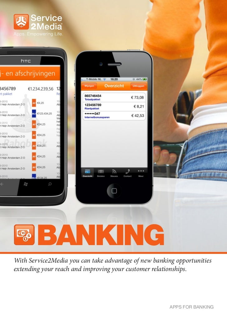 BANKINGWith Service2Media you can take advantage of new banking opportunitiesextending your reach and improving your custo...