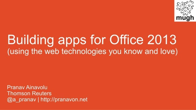 Building Apps for Office 2013