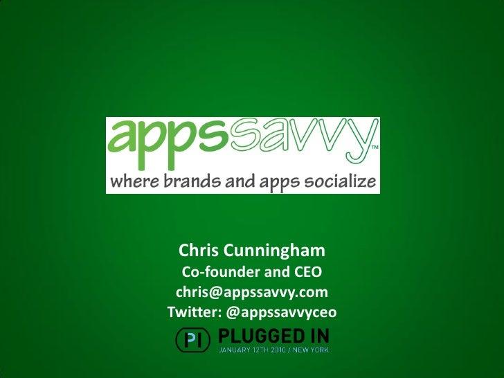 Appssavvy - PluggedIn NYC011210